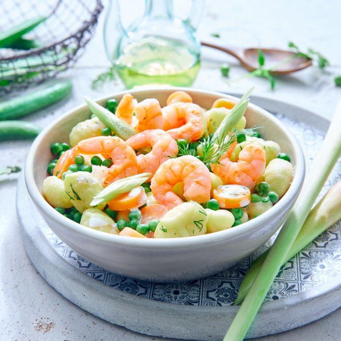 gnocchi crevette petits pois cebette photo film stylisme culinaire recette food style rhone lyon