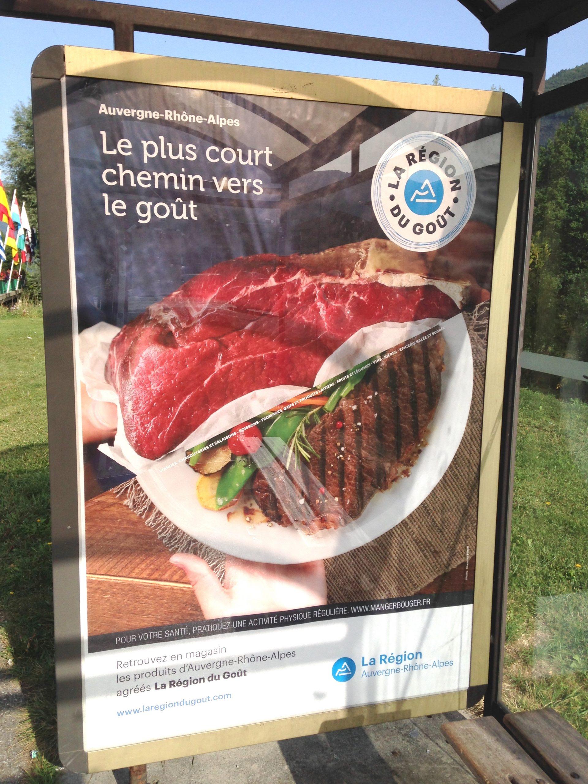 affichage abris bus culinaire stylisme rhone