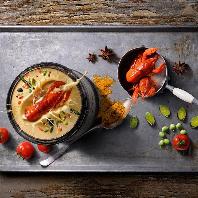 crème d'écrevisse photo film stylisme culinaire recette food style rhone lyon