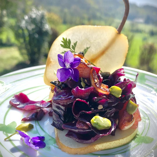 poire au chou photo film stylisme culinaire recette food style rhone lyon