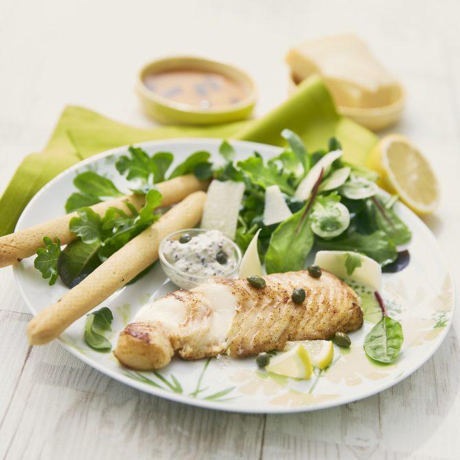 cabillaud gressin salade cesar parmesan photo film stylisme culinaire recette food style rhone lyon