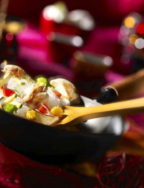 wok de poulet aux légumes illustration film stylisme culinaire recette food style rhone lyon packaging pack